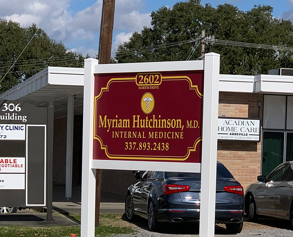 myriam hutchison m.d. internal medicine sign