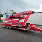 custom speed boat wrap