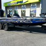 bowfishing custom boat wrap