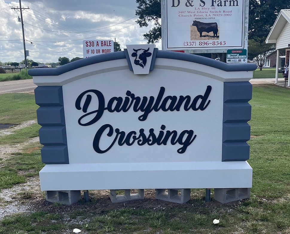 Dairyland Crossing Signage