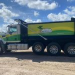 dump truck for lafayette materials wrap