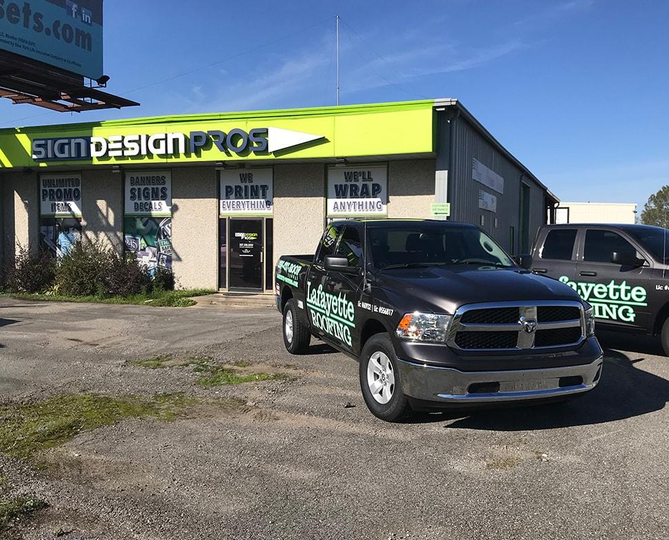 Lafayette Roofing Truck Wrap