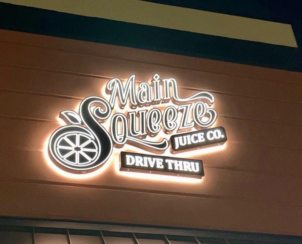 Main Squeeze Juice Company Signage
