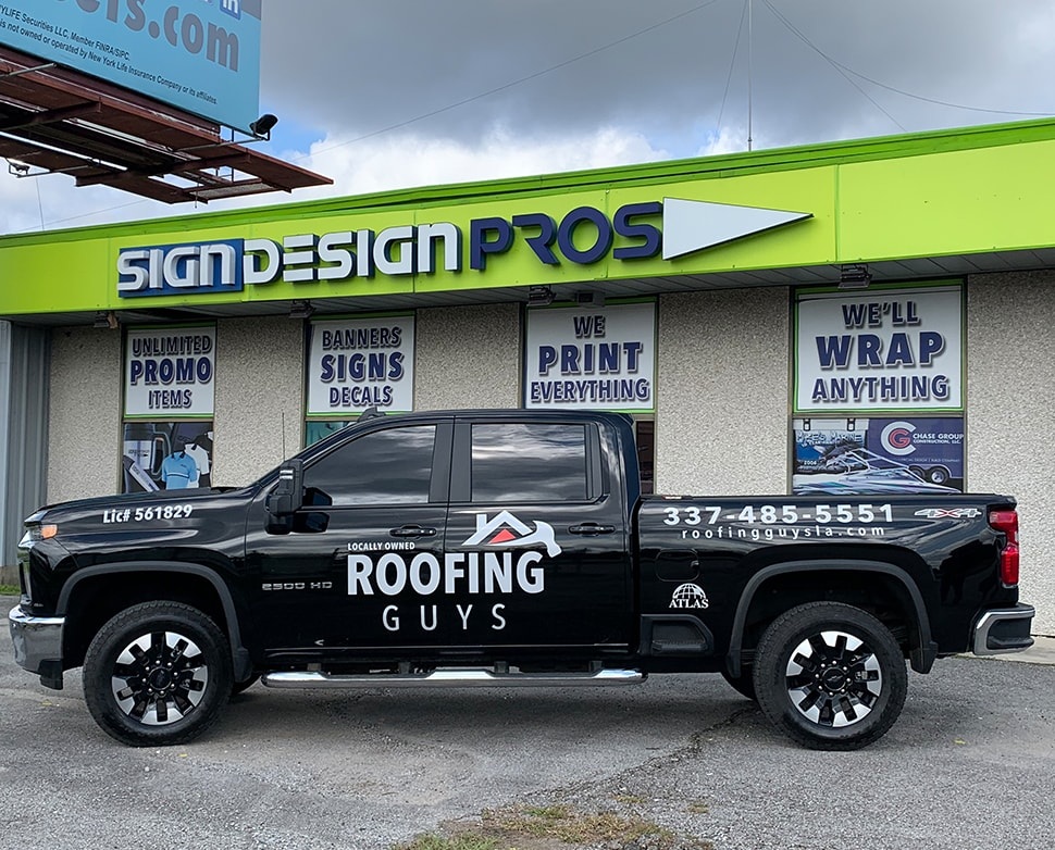 Roofing Guys Truck Wrap