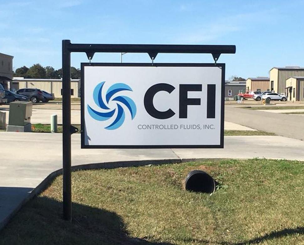 Controlled Fluids, Inc signage