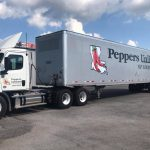 Peppers Unlimited of Louisiana vehicle wrap on a semi truck