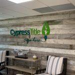 Cypress Title signage