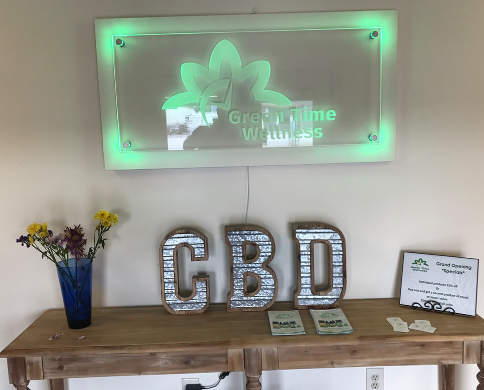 Green Time Wellness Signage