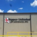 peppers unlimited of louisiana warehouse signage