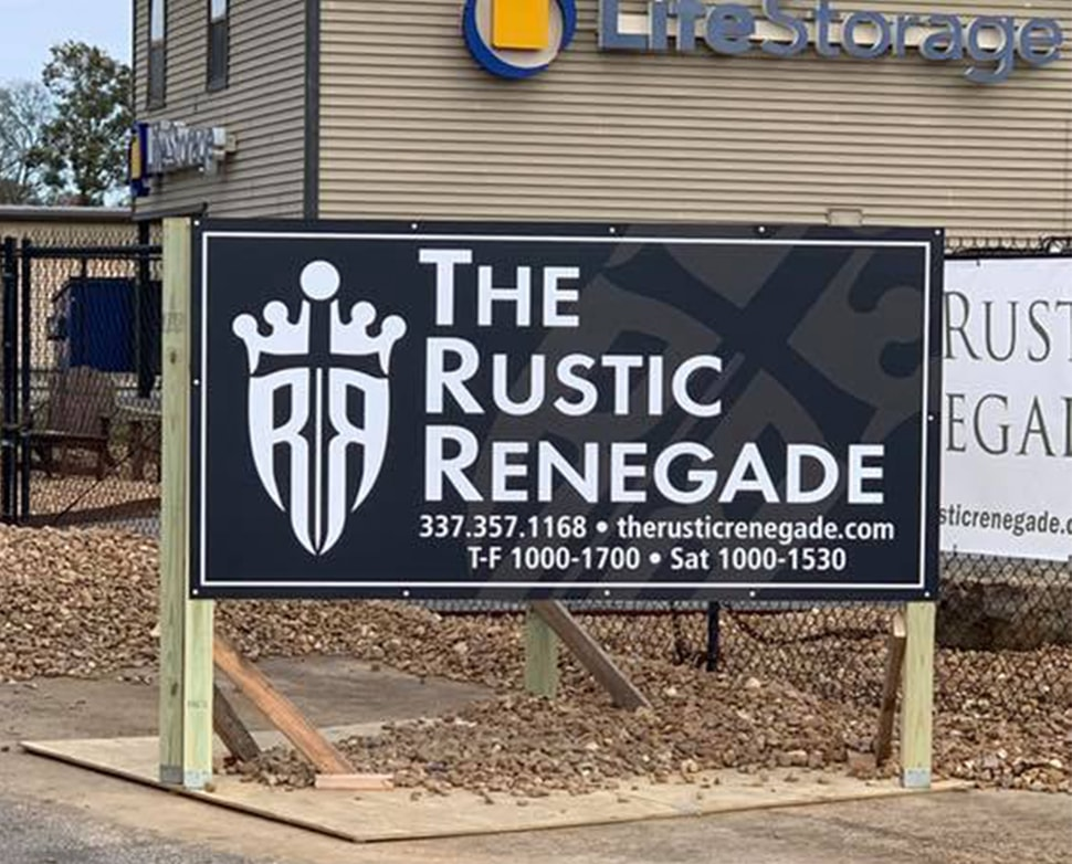 The Rustic Renegade Signage